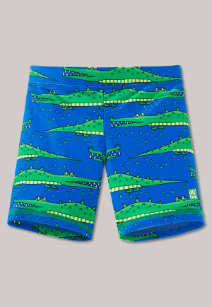 Bade-Shorts LSF40+ Krokodile blau/grün - Crocobite