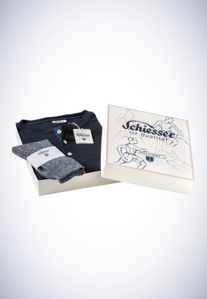 Set consisting of long-sleeved shirt and blue-black socks - Revival Karl-Heinz