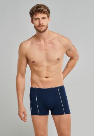 Shorts Organic Cotton Paspeln Webgummibund nachtblau – 95/5