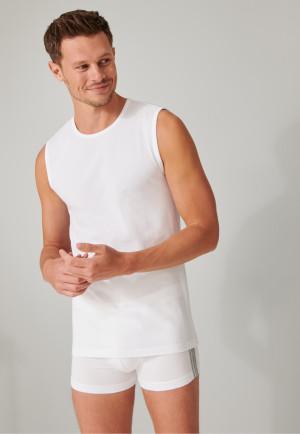 Tank tops 2-pack organic cotton round neck white - 95/5