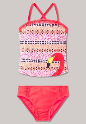 Tankini SPF40+ folklore ruffles multi-colour - Folky Flamingo