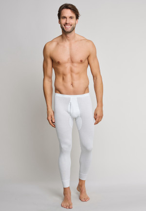 Long underpants with fly, white - Original Feinripp