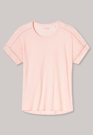 Shirt kurzarm oversized zartrosa - Mix+Relax