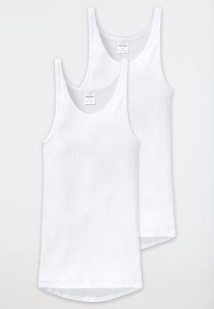 Undershirts, double rib, white, 2-pack - Original Classics