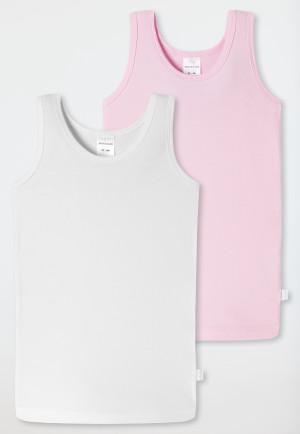Undershirts set of 2 white/pink - 95/5