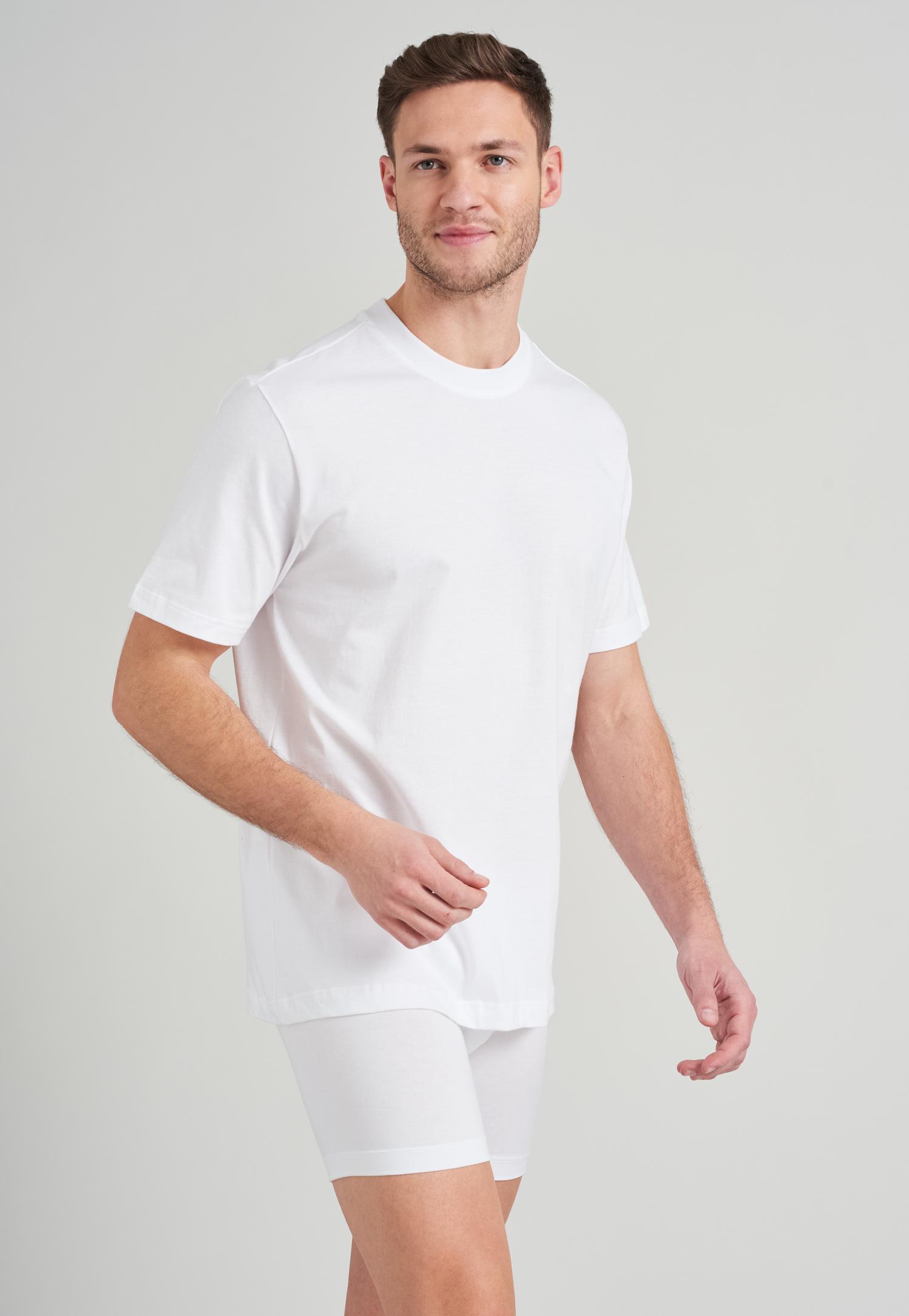 Image of American T-Shirts Rundhals 2er Pack weiß - Essentials 4XL